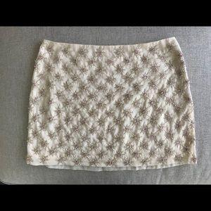 Club Monaco Beaded Mini Skirt. PERFECT condition